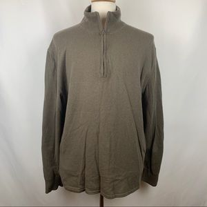 The North Face 1/4 Zip Wool Cotton Blend Sweater